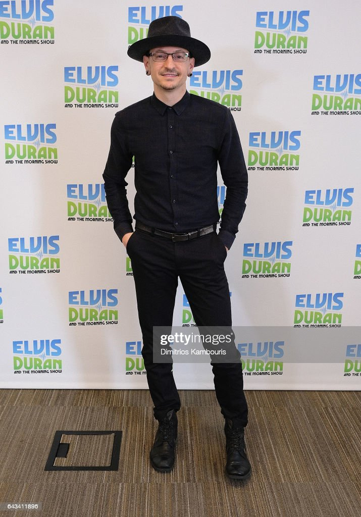 Chester Bennington visits 'The Elvis Duran Z100 Morning Show' at Elvis Duran Offices on February 21, 2017 in New York City.