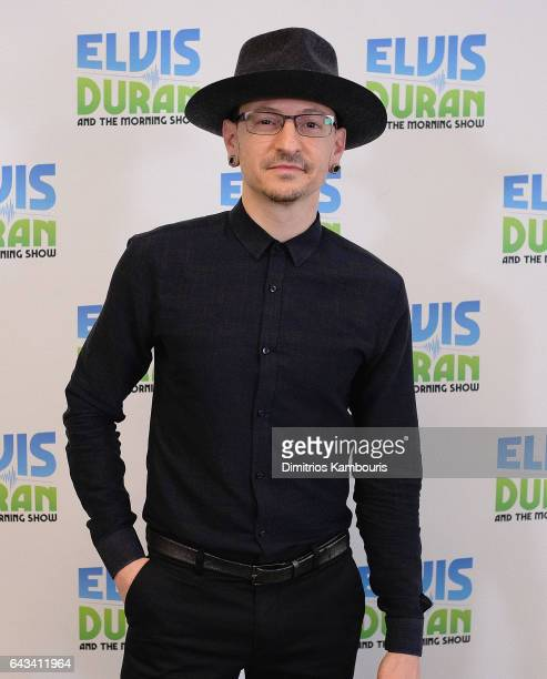 Chester Bennington visits 'The Elvis Duran Z100 Morning Show' at Elvis Duran Offices on February 21 2017 in New York City
