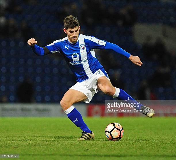 Chesterfield's Ched Evans during the Emirates FA Cup Second Round match between Chesterfield and Wycombe Wanderers at Proact Stadium on December 3...