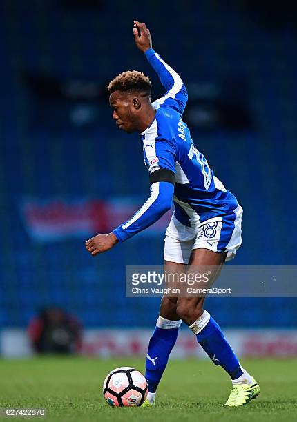 Chesterfield's Gboly Ariyibi during the Emirates FA Cup Second Round match between Chesterfield and Wycombe Wanderers at Proact Stadium on December 3...