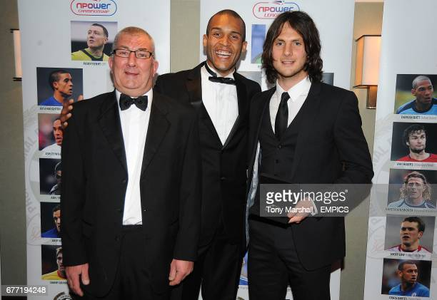 Chesterfield's goalkeeper Tommy Lee poses with his PFA Team of the year award for npower League Two with PFA Chairman Clarke Carlisle at the PFA...
