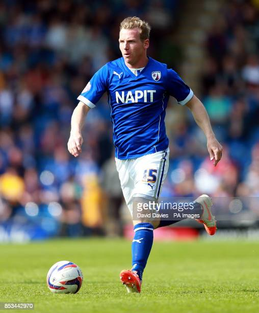 Chesterfield's Ritchie Humphreys during the Sky Bet League Two match at the Proact Stadium Chesterfield