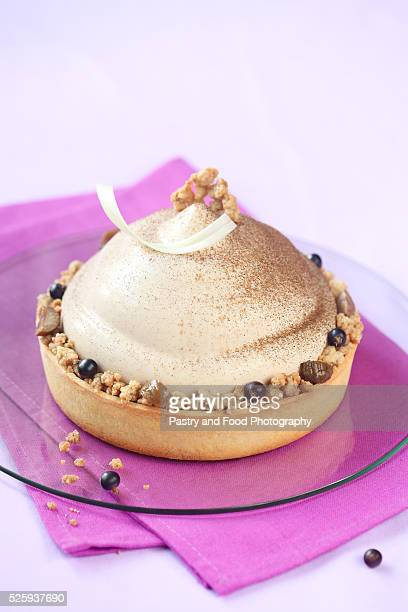 Chestnut and Blackcurrant Entremet Cake