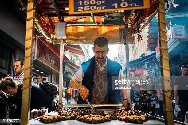Chestnut vendeur à Istanbul