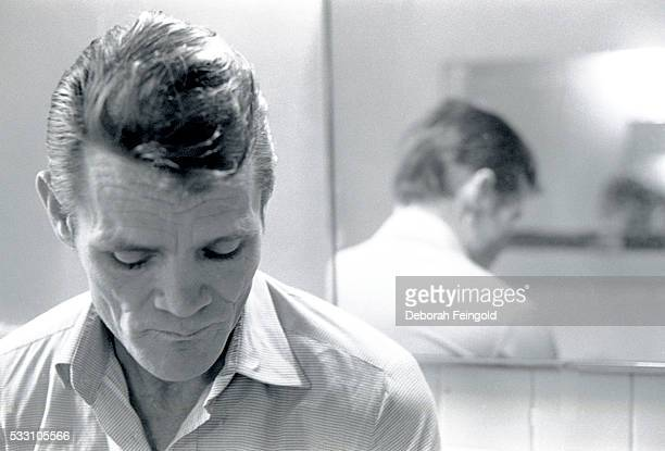 Chet Baker Beside Mirror