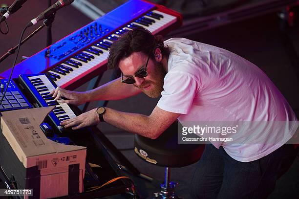 Chet Faker performs on stage during Falls Festival on December 30 2013 in Lorne Australia