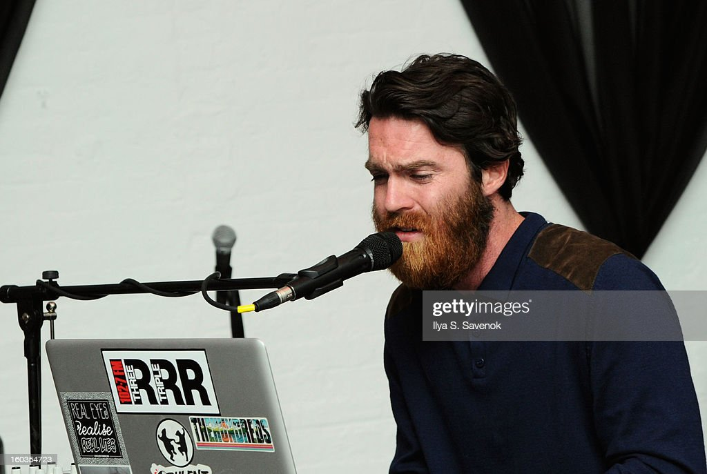 Chet Faker performs on stage during No Diggity, No Doubt: Beck's Sapphire Pops Up To Celebrate Super Bowl on January 29, 2013 in New York City.