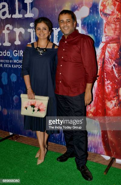 Chetan Bhagat and Anusha Bhagat during a success party of the film 'Half Girlfriend' in Mumbai
