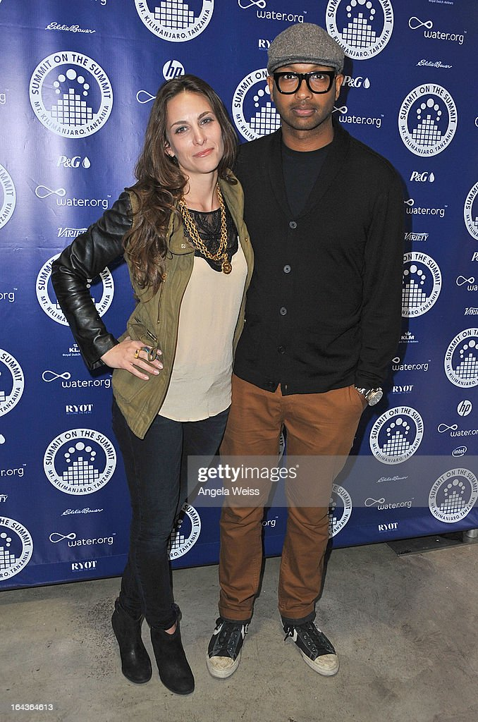 Chevenee Reavis and Kenna arrive at the Summit On The Summit photo exhibition celebrating World Water Day at Siren Studios on March 22, 2013 in Hollywood, California.