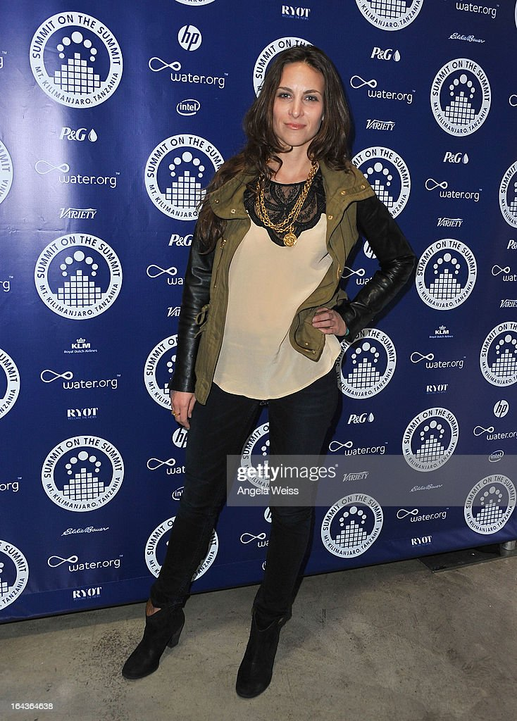 Chevenee Reavis arrives at the Summit On The Summit photo exhibition celebrating World Water Day at Siren Studios on March 22, 2013 in Hollywood, California.