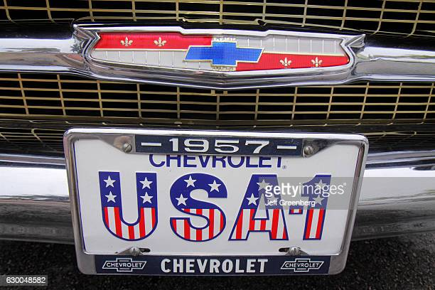 A Chevrolet 1957 license plate