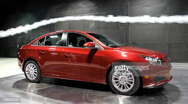 Chevrolet 2011 Cruze ECO is shown being tested at the world's largest automotive wind tunnel during a General Motors commemoration of the 30th...