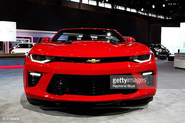 Chevrolet Camaro SS is on display at the 108th Annual Chicago Auto Show at McCormick Place in Chicago Illinois on February 12 2016