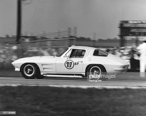 Chevrolet Corvette in action during SCCA racing at Daytona International Speedway