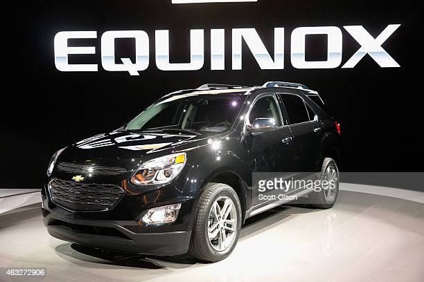 Chevrolet introduces the 2016 Equinox at the Chicago Auto Show on February 12 2015 in Chicago Illinois The auto show which has the highest attendance...