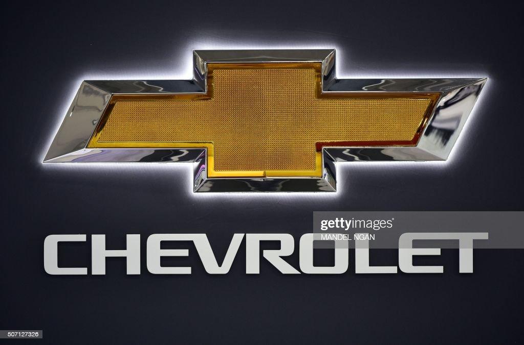 chevrolet logo 2015. a chevrolet logo is seen at the 2016 washington auto show on january 27 2015 r