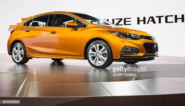 Chevrolet unveils the new 2017 Cruze Hatchback during their press conference at the 2016 North American International Auto Show in Detroit Michigan...