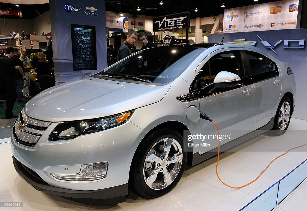 A Chevrolet Volt electric hybrid vehicle is displayed at the 2010 International Consumer Electronics Show at the Las Vegas Convention Center January 8, 2010 in Las Vegas, Nevada. CES, the world's largest annual consumer technology trade show, runs through January 10 and is expected to feature 2,500 exhibitors showing off their latest products and services to about 110,000 attendees.