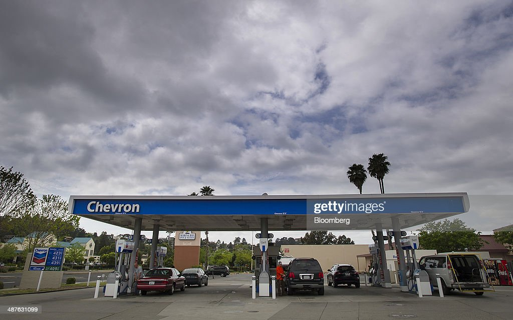 A Chevron Corp fueling station stands in Richmond California US on Thursday April 24 2014 Chevron Corp is expected to release earning figures on May...