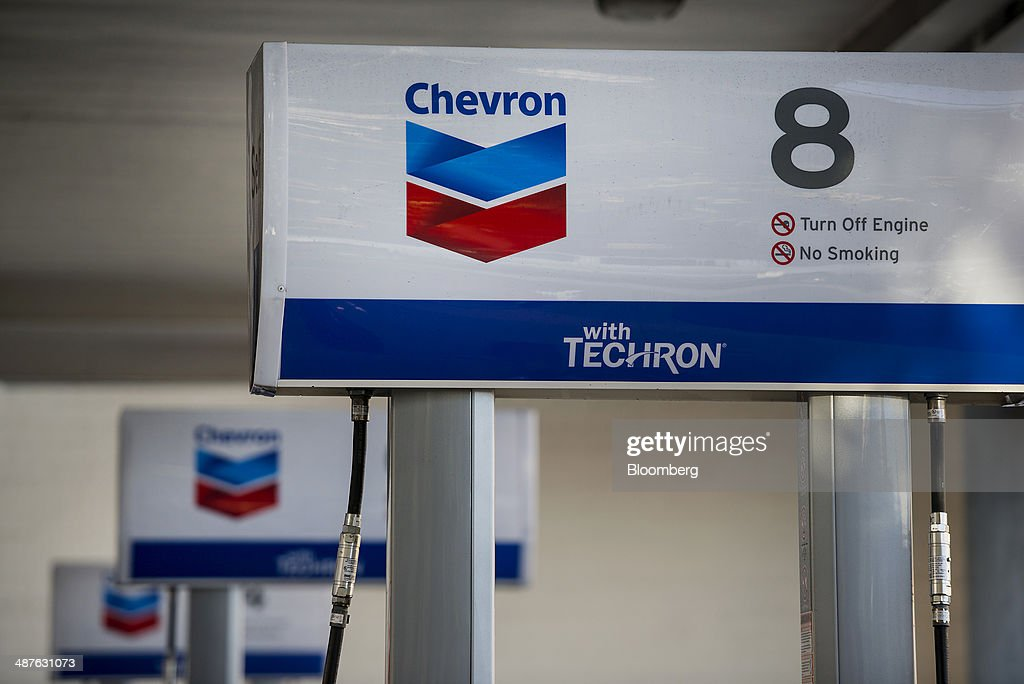 A Chevron Corp fueling station stands in San Francisco California US on Friday April 25 2014 Chevron Corp is expected to release earning figures on...