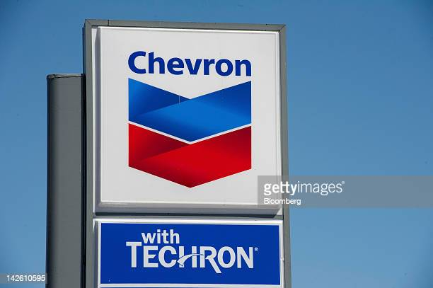 Chevron Corp signage is displayed at a gasoline station in San Francisco California US on Thursday April 5 2012 Gasoline slid to a fourweek low as...