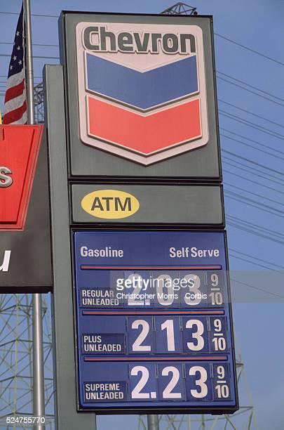 Chevron Gasoline Prices Sign