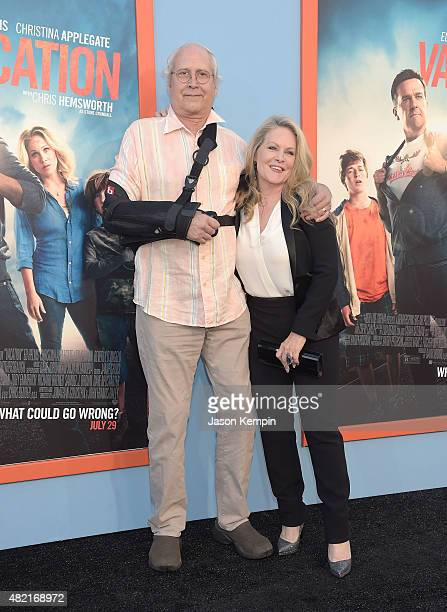 Chevy Chase and Beverly D'Angelo attend the premiere of 'Vacation' at Regency Village Theatre on July 27 2015 in Westwood California