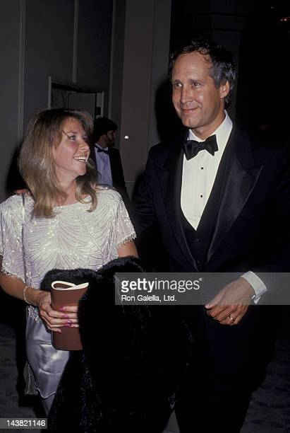 Chevy Chase and wife Jaynie Chase attend 17th Annual American Film Institute Lifetime Achievement Awards Honoring Gregory Peck on March 9 1989 at the...