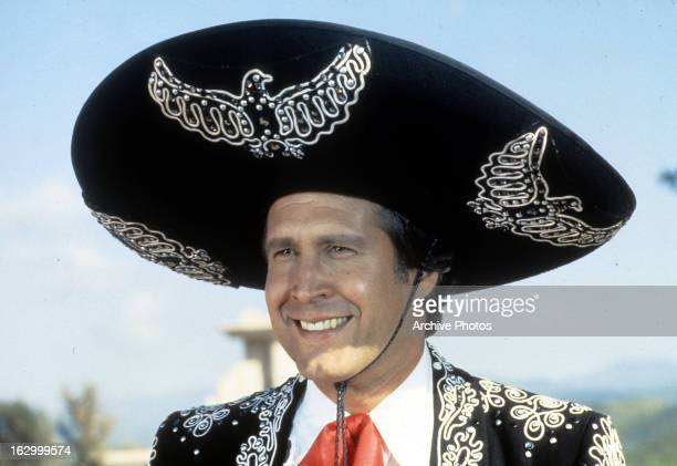 Chevy Chase in a scene from the film '¡Three Amigos' 1986