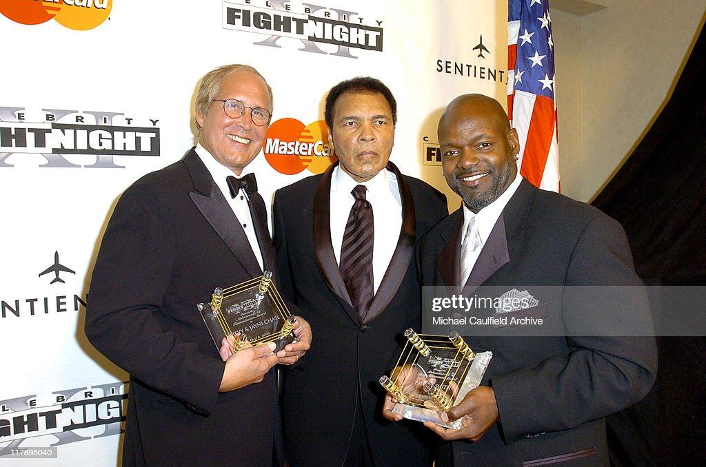 Chevy Chase, Muhammad Ali and Emmitt Smith during Celebrity Fight Night XI at Arizona Biltmore Resort in Phoenix, Arizona, United States.