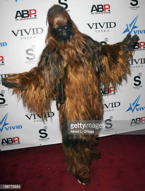 Chewbacca arrives for the Premiere Of Vivid Entertainment's 'Star Wars XXX A Porn Parody' held at SupperClub on February 23 2012 in Hollywood...