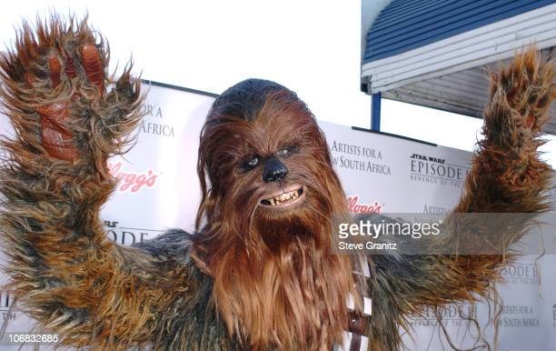 Chewbacca during 'Star Wars Episode III Revenge of The Sith' Premiere to Benefit Artists for a New South Africa Charity Arrivals at Mann's Village...