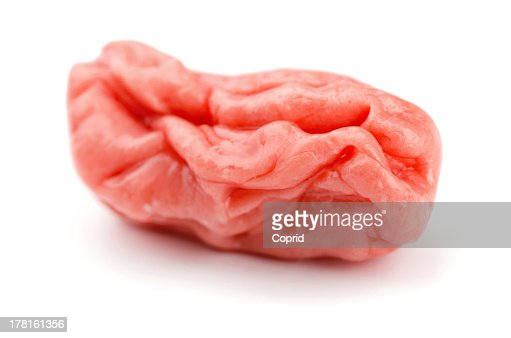 Chewed up gum in white background : Stock Photo