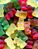 Chewy candy bears