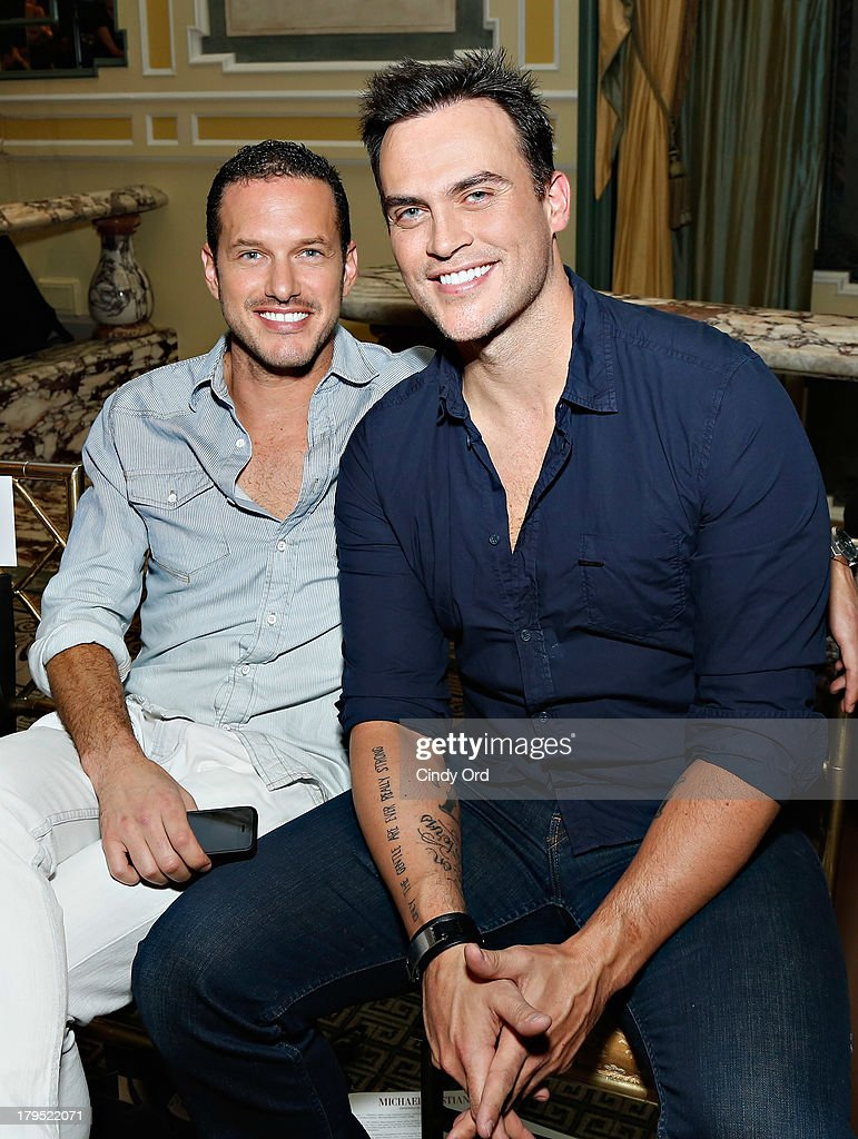 Cheyenne Jackson and guest attend the Michael Bastian fashion show during MercedesBenz Fashion Week Spring 2014 at the Hotel Pierre on September 4...