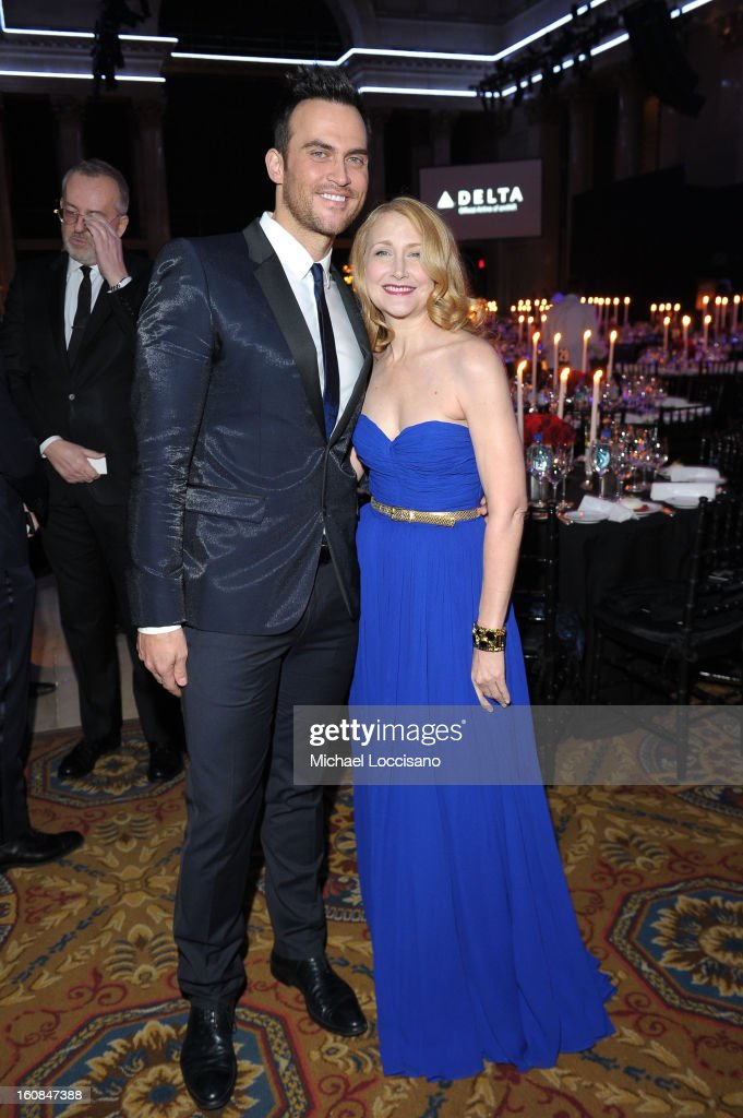 Cheyenne Jackson and Patricia Clarkson attend the amfAR New York Gala to kick off Fall 2013 Fashion Week at Cipriani Wall Street on February 6 2013...