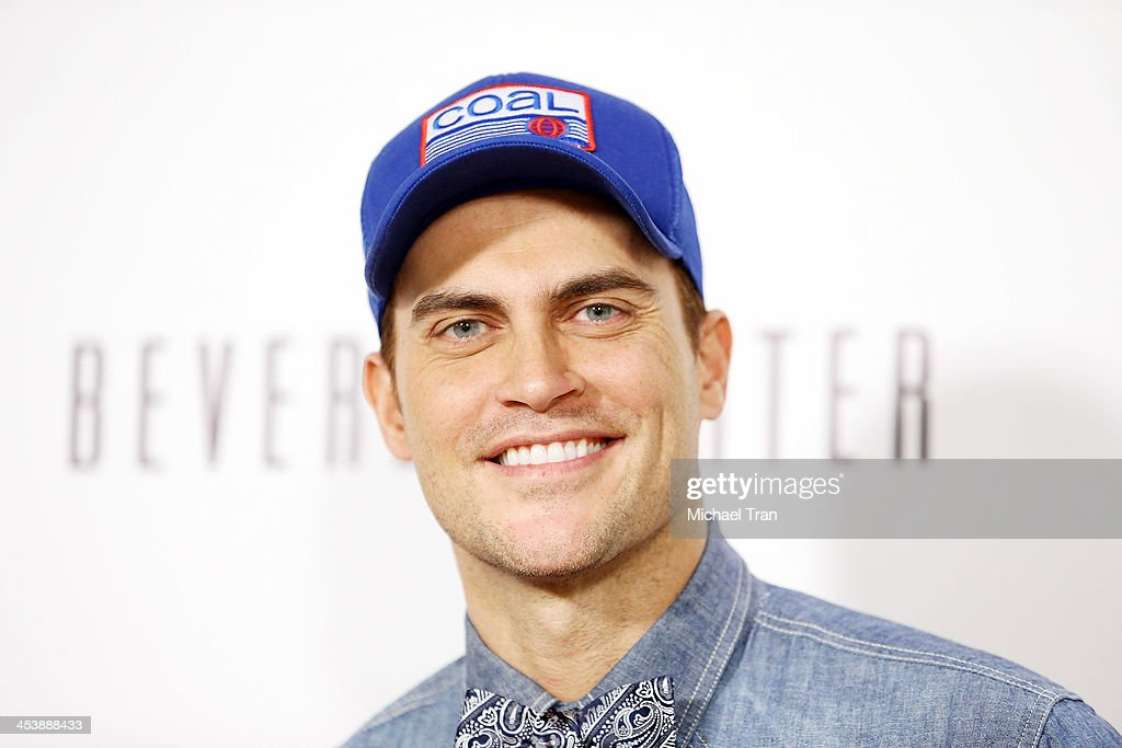 <a gi-track='captionPersonalityLinkClicked' href=/galleries/search?phrase=Cheyenne+Jackson&family=editorial&specificpeople=216481 ng-click='$event.stopPropagation()'>Cheyenne Jackson</a> arrives at the 'Tie The Knot' pop-up store opening held at The Beverly Center on December 5, 2013 in Los Angeles, California.