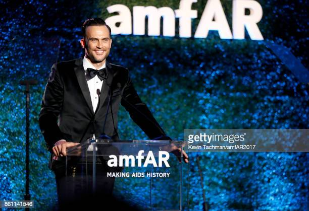 Cheyenne Jackson at amfAR Los Angeles 2017 at Ron Burkle's Green Acres Estate on October 13 2017 in Beverly Hills Californi