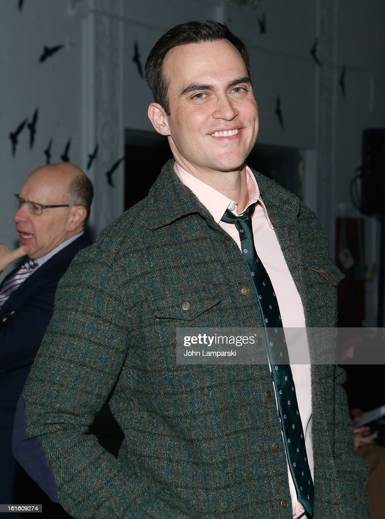 <a gi-track='captionPersonalityLinkClicked' href=/galleries/search?phrase=Cheyenne+Jackson&family=editorial&specificpeople=216481 ng-click='$event.stopPropagation()'>Cheyenne Jackson</a> attends Michael Bastian during Fall 2013 Mercedes-Benz Fashion Week on February 12, 2013 in New York City.