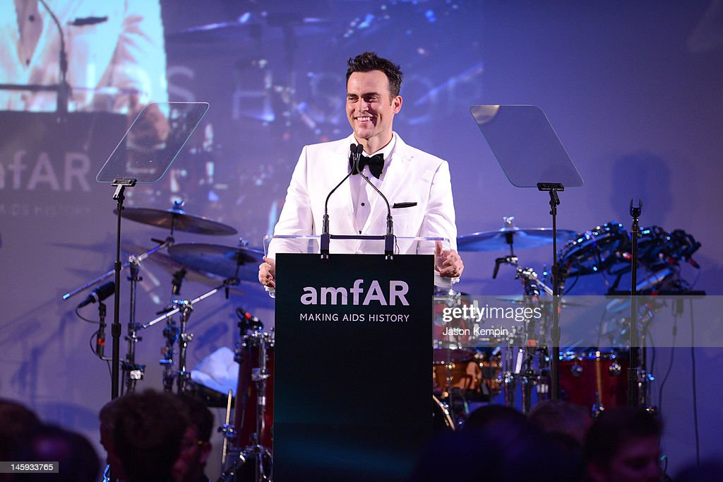 <a gi-track='captionPersonalityLinkClicked' href=/galleries/search?phrase=Cheyenne+Jackson&family=editorial&specificpeople=216481 ng-click='$event.stopPropagation()'>Cheyenne Jackson</a> speaks during the 3rd annual amfAR Inspiration Gala New York at The New York Public Library - Stephen A. Schwarzman Building on June 7, 2012 in New York City.