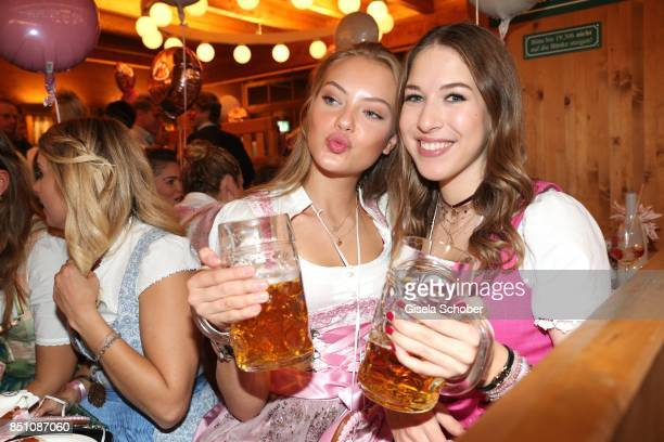 Cheyenne Ochsenknecht and Alana Siegel at the 'Madlwiesn' event during the Oktoberfest at Theresienwiese on September 21 2017 in Munich Germany