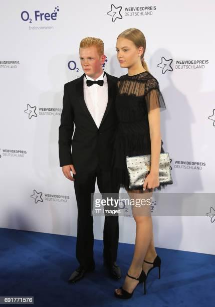 Cheyenne Ochsenknecht and Leon Loewentraut attend the Webvideopreis Deutschland 2017 at ISS Dome on June 1 2017 in Duesseldorf Germany