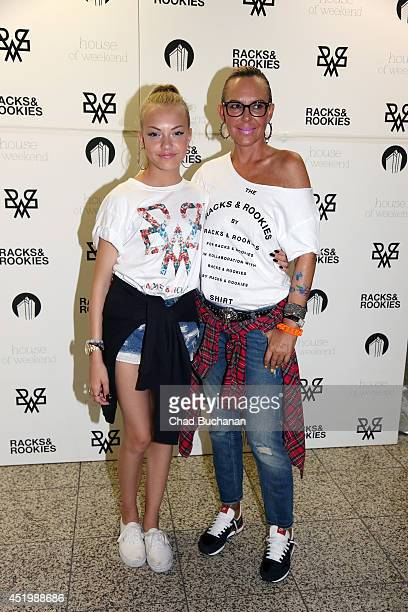 Cheyenne Ochsenknecht and Natascha Ochsenknecht attend the 'Racks Roockies' launch party on July 10 2014 in Berlin Germany