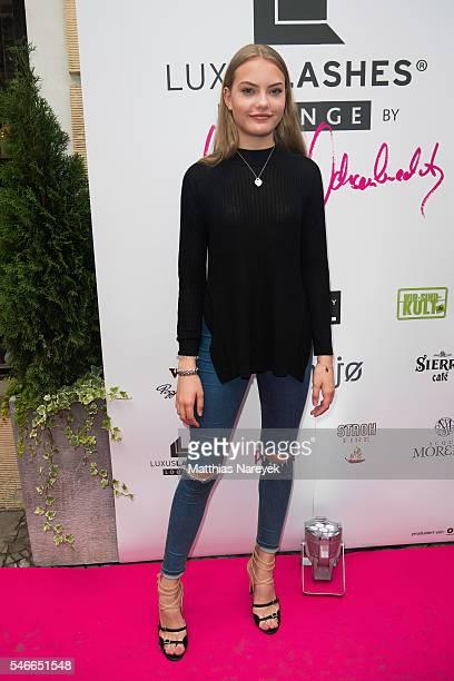 Cheyenne Ochsenknecht during the grand opening of Luxuslashes Lounge by Natascha Ochsenknecht on July 12 2016 in Berlin Germany