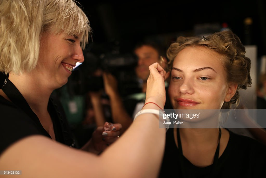 <a gi-track='captionPersonalityLinkClicked' href=/galleries/search?phrase=Cheyenne+Ochsenknecht&family=editorial&specificpeople=710059 ng-click='$event.stopPropagation()'>Cheyenne Ochsenknecht</a> is seen backstage ahead of the Riani show during the Mercedes-Benz Fashion Week Berlin Spring/Summer 2017 at Erika Hess Eisstadion on June 28, 2016 in Berlin, Germany.