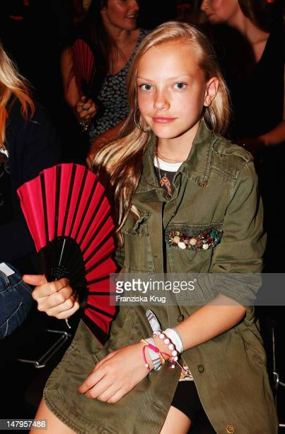 Cheyenne Ochsenknecht sits in front row during the Michalsky Style Nite 2012 at MercedesBenz Fashion Week Berlin Spring/Summer 2013 at Tempodrom on...