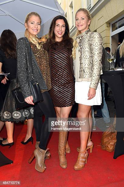 Cheyenne Pahde Alexandra PolzinLeinauer and Valentina Pahde attend the 'El Gaucho' Restaurant Opening on September 5 2014 in Munich Germany