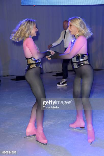 Cheyenne Pahde and her sister Valentina Pahde during the Holiday on Ice Season Opening 2017/18 at Volksbank Arena on October 12 2017 in Hamburg...