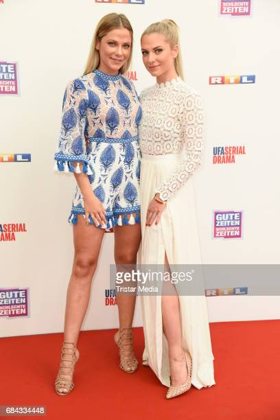 Cheyenne Pahde and her twin sister Valentina Pahde attend the 25th anniversary party of the TV show 'GZSZ' on May 17 2017 in Berlin Germany