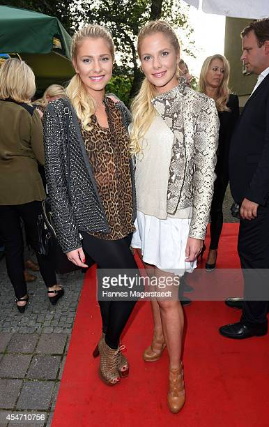 Cheyenne Pahde and Valentina Pahde attend the 'El Gaucho' Restaurant Opening on September 5 2014 in Munich Germany